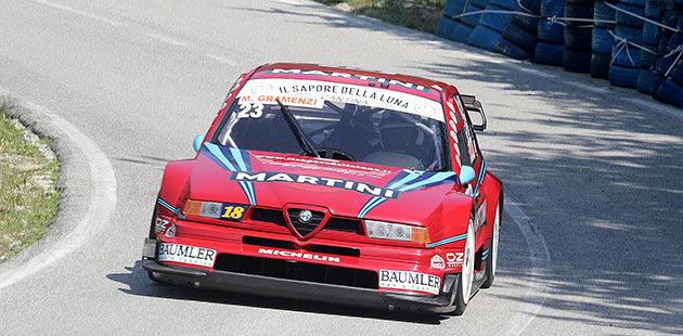 Marco Gramenzi brilla in E2 SH con l'Alfa Romeo 155 ITC (Foto Claudio Ricciotti)