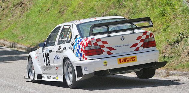 Marco Iacoangeli vincente in E1 Italia con la Bmw 320i (Foto Claudio Ricciotti)