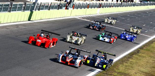 Lo start di gara 2 dei Prototipi a Vallelunga
