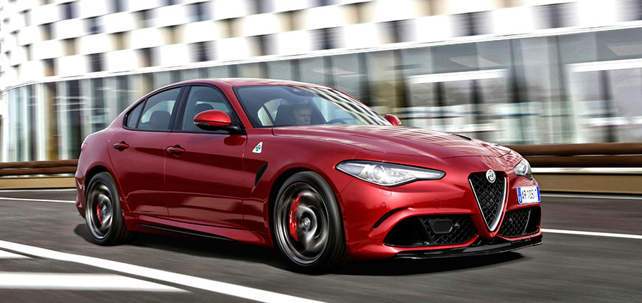 Damigella d'onore al premio Car of the Year 2017 è Alfa Romeo Giulia