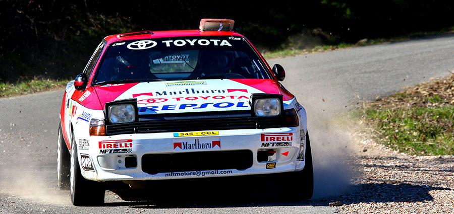 Nicola Patuzzo ed Alberto Martini piazzano la Toyota Celica St 165 al quinto posto
