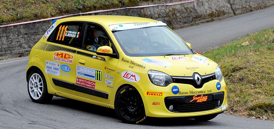 Emanuele Rosso, con un primo e un secondo posto, comanda la classifica del Trofeo Twingo R1 Top