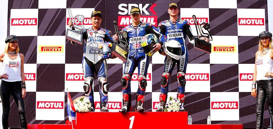 Il podio della tappa Thailandese del WSSP