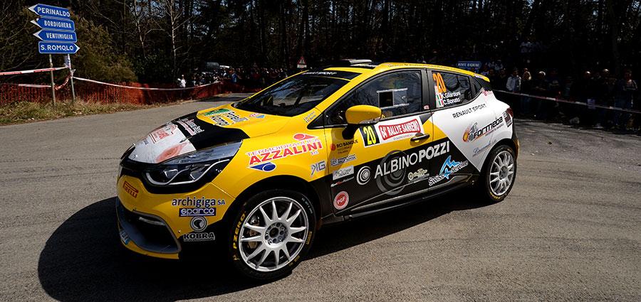 Ottavo posto assoluto e vittoria tra le 2 Ruote Motrici per Kevin Gilardoni e Corrado Bonato con la Renault Clio R3T