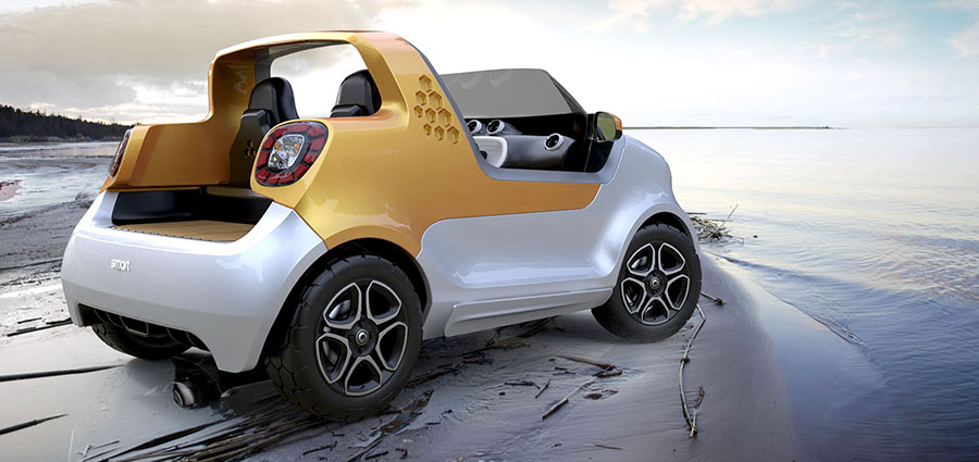 Un'innovativa tecnologia permette di inclinare le ruote di 35°, armonizzandosi con le linee dello scafo e del sottoscocca