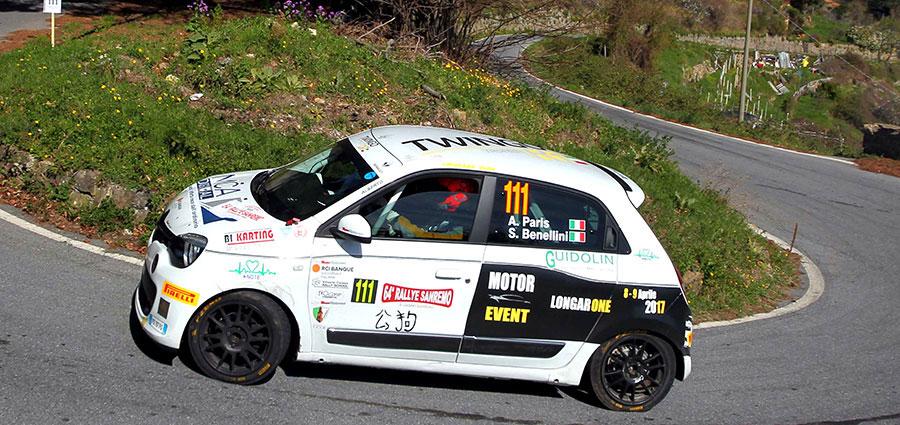 Trofeo Twingo R1 Top ad avere la meglio è stato l'equipaggio composto da Alberto Paris e Sonia Benellini