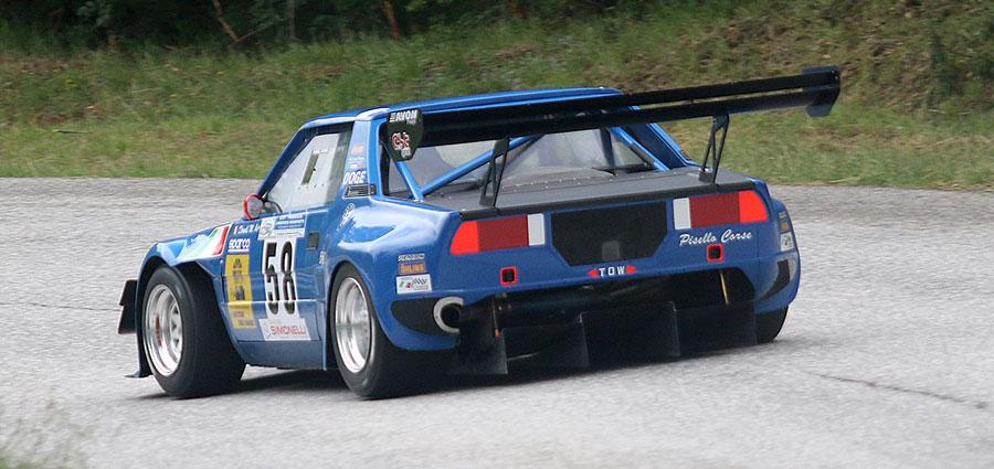 La migliore vettura a ruote coperte e la Fiat X1/9 di Manuel Dondi vincitore in E2 Silhouette (Foto Claudio Ricciotti)