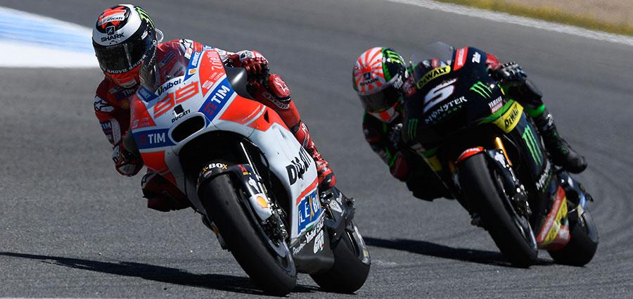 Jorge Lorenzo, terzo dietro le Honda, sembra essere riuscito a domare la Ducati ufficiale