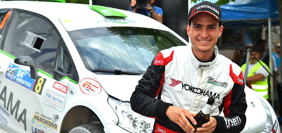 Nicolò Marchioro con la Peugeot 208 T16 R5 si aggiudica la classifica classifica del Campionato Terra