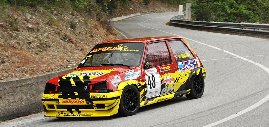 Ottimo il pugliese Vitantonio Micoli con la Renault 5 GT Turbo E1 Italia 1600 Turbo