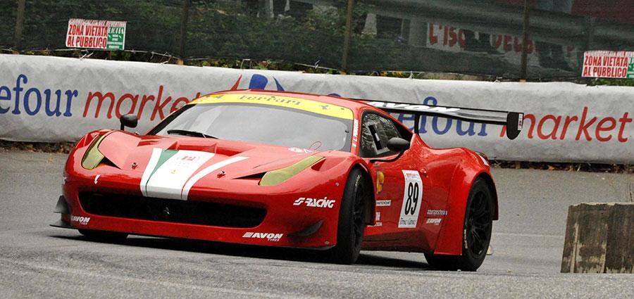 Lucio Peruggini quinto assoluto con la Ferrari 458 GT3