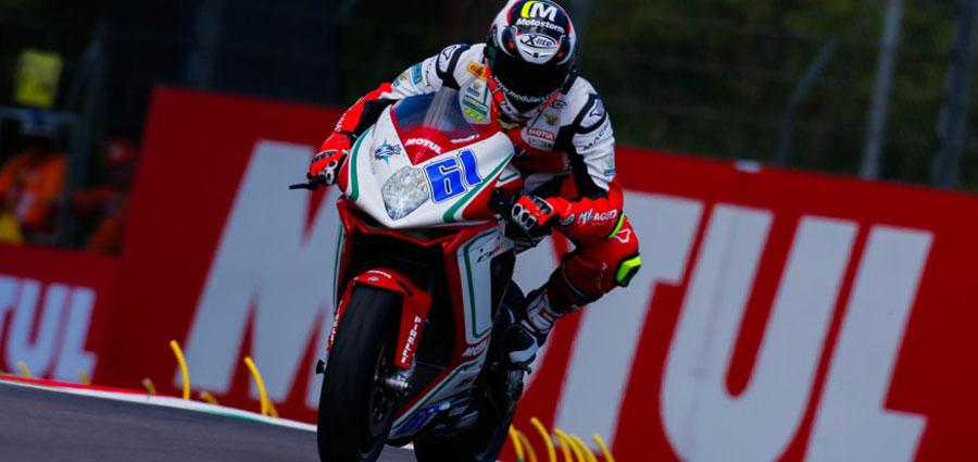 Alessandro Zaccone con la MV Agusta completa la top ten