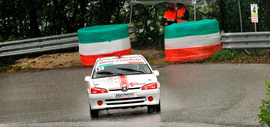 Vittoria di Rocco Errichetti in N1600 con la Peugeot 106