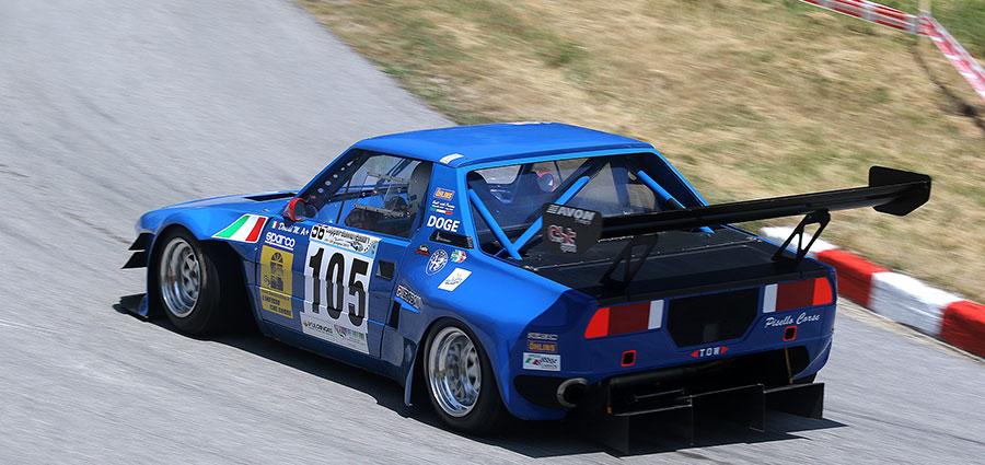 La migliore vettura a ruote coperte è ancora la Fiat X1/9 di Manuel Dondi, vincitore tra le E2 Silhouette e dodicesimo assoluto