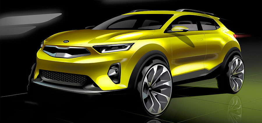 La nuova Kia Stonic è concepita per essere moderna, sportiva ed audace grazie ad un formato dinamico e sorprendente