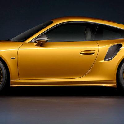 Porsche 911 Turbo S Exclusive Series, l'oro che impreziosisce i contenuti