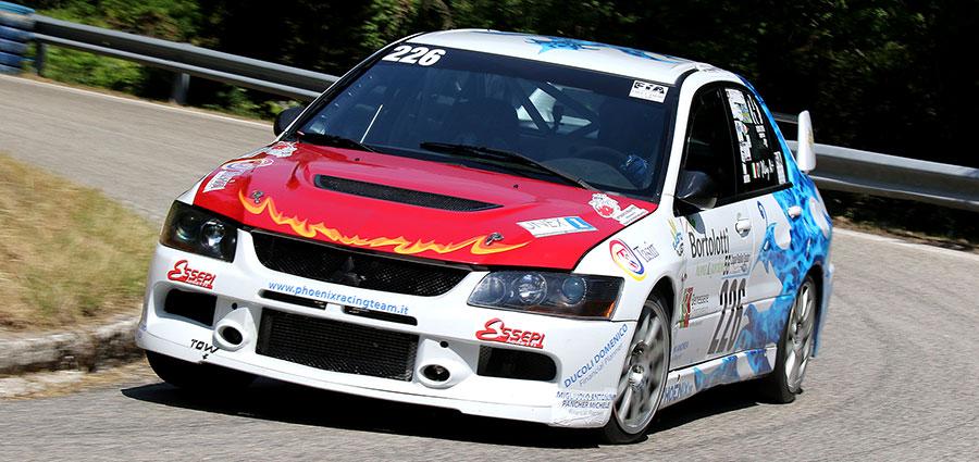 O'Play su Mitsubishi Lancer Evo IX spopola in Gruppo N Oltre 3000