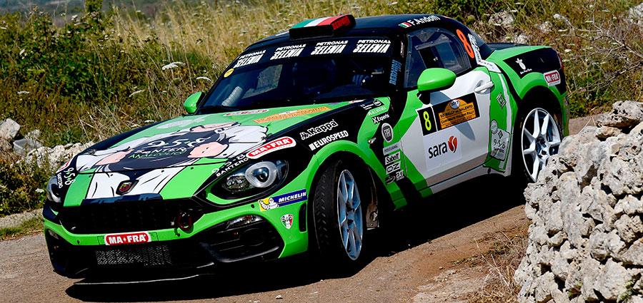 Posizioni di vertice anche per ll'Abarth 124 Rally di Fabrizio Andolfi