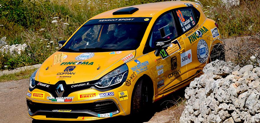 Riccardo Canzian è quinto di tappa e di aggregata con la Renault Clio R3T