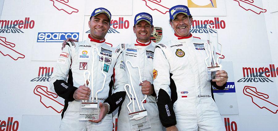 Il podio di gara 2 della Michelin Cup