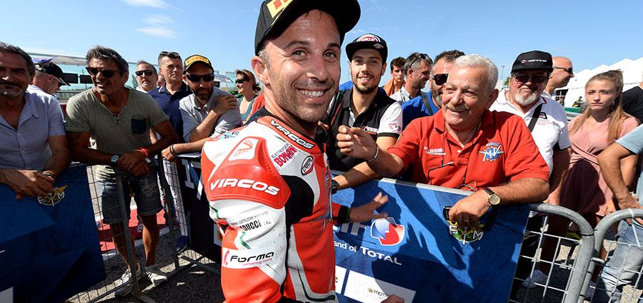 Massimo Roccoli, presente a Misano come wild card, ha vinto la gara della Supersport