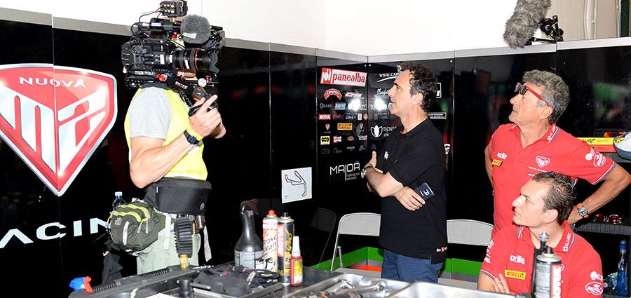 Romano Albesiano, Aprilia Racing Manager, intervistato a Misano