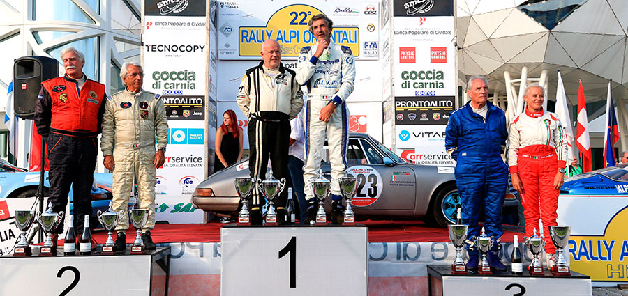 Il podio delle Autostoriche al Rally del Friuli, questo è relativo al 1° Raggruppamento