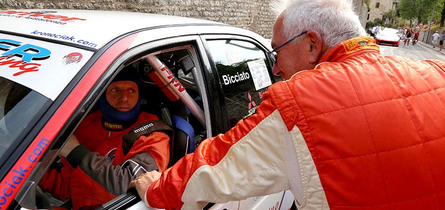 Rudi Bicciato con la Mitsubishi Lancer vince nel Gruppo A (Foto Claudio Ricciotti)