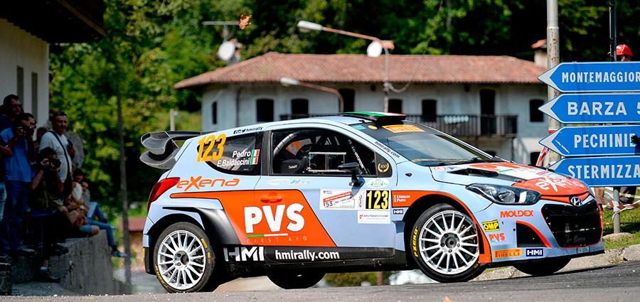 Quasi in vetta alla top ten Pedro ed Emanuele Baldaccini con la Hyundai i20 Wrc