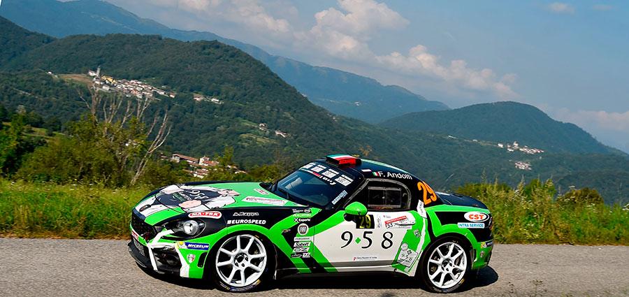 Tra le Abarth 124 Trofeo Fabrizio Andolfi junior è campione con due gare d'anticipo