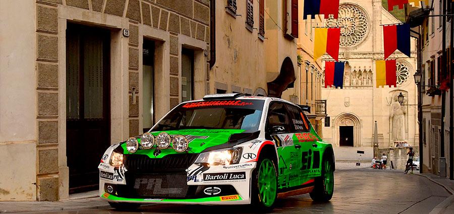 Rudy Michelini e Michele Perna, ottavi assoluti con la Skoda Fabia R5