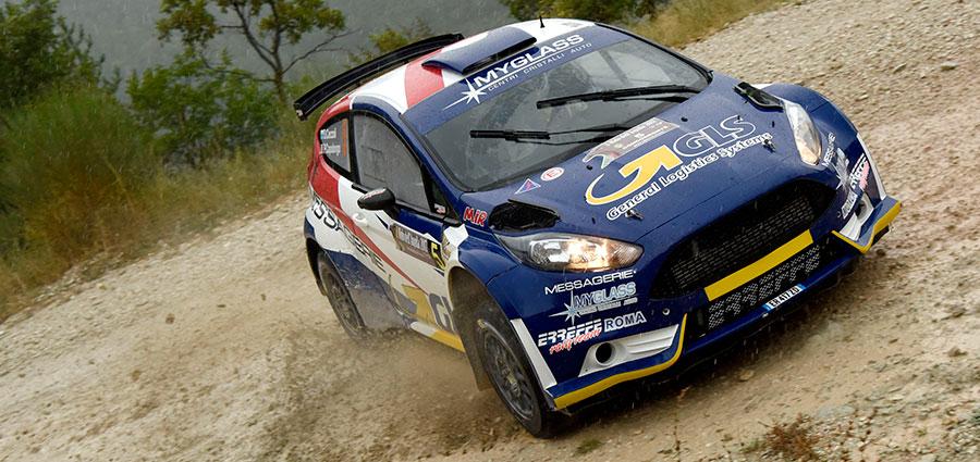 Mesto ritiro per Daniele Ceccoli fermato da noie elettriche alla sua Ford Fiesta R5