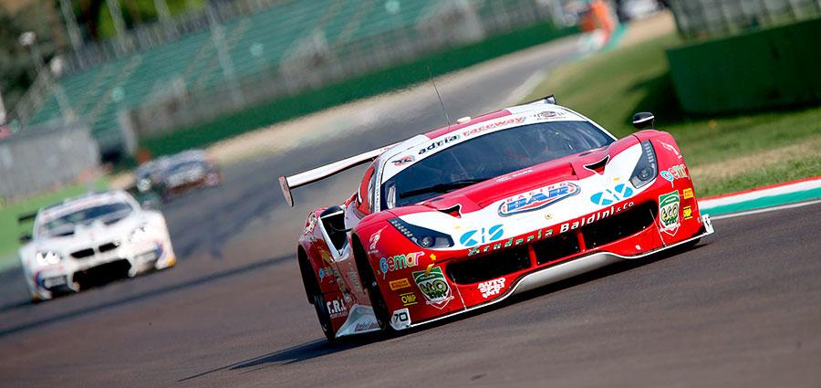 Ottimo risultato in gara 1 di Eddie Cheever III e Matteo Malucelli sulla Ferrari 488 della Baldini 27