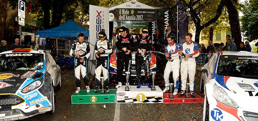 Il podio del Nido dell'Aquila, durissima tappa del Campionato Italiano Terra