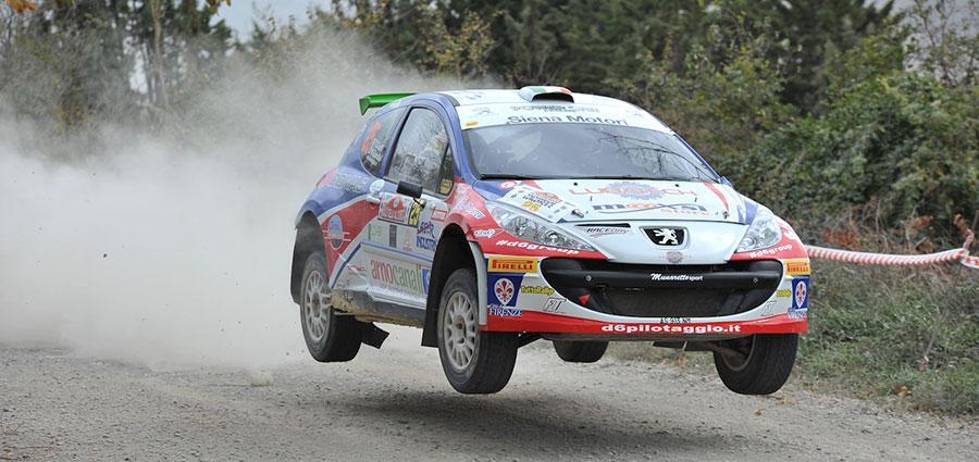 Tommaso Ciuffi con Nicolò Gonella con la Peugeot 207 sono i primi nella Super 2000