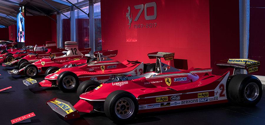 La storia della Formula Uno per la Ferrari per raccontata in un padiglione (Foto Antonio Perrone)