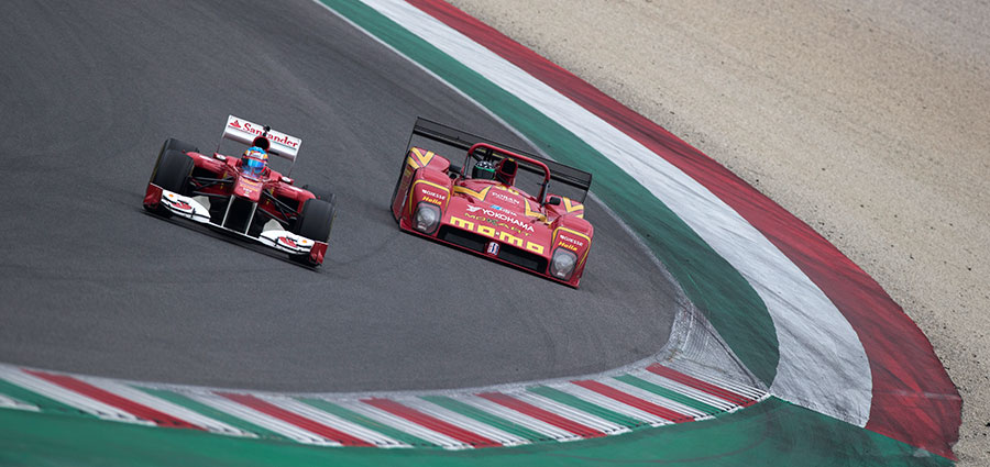 La Ferrari 333 Sp in livrea Momo, a suo tempo grande protagonista della Imsa e delle gare Endurance internazionali (Foto Antonio Perrone)