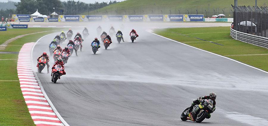 Partenza a razzo di Johann Zarco alla tappa della Moto GP a Sepang che chiuderà con un ottimo terzo posto