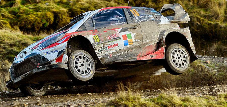 Jari-Matti Latvala e Miikka Anttila con la Toyota Yaris Wrc agguantano un onorevole quinto posto
