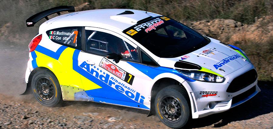 Quarto posto per Giovanni Manfrinato e Claudio Condotta con la Ford Fiesta R5