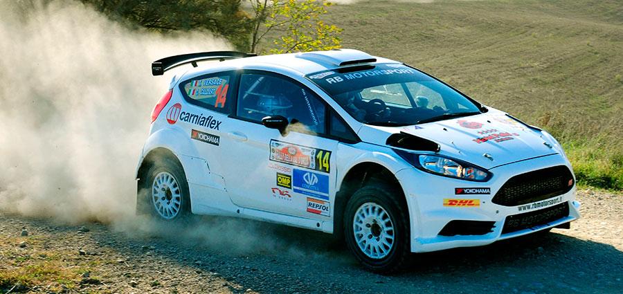Tullio Versace e Cristina Caldart con la Ford Fiesta R5 completano la top ten