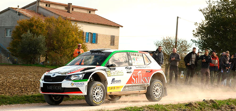 Ottava posizione per il lombardo Marco Gianesini con la Skoda Fabia R5