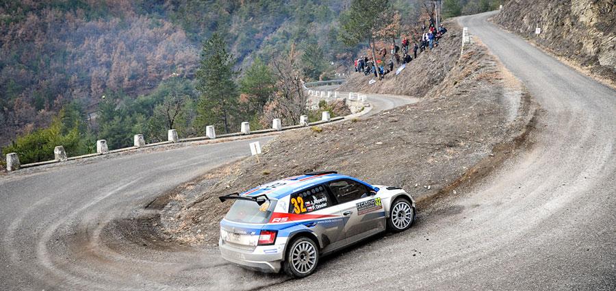 Chiude la top ten come vincitore della WRC 2, il ceco Jan Kopecky con Pavel Dresler e la Skoda Fabia R5 (Foto Stefano Romeo)