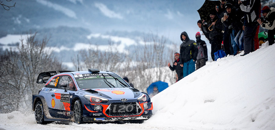 Quinto posto di tutto rispetto per uno sfortunato Thierry Neuville con la Hyundai i20 Wrc (Foto Stefano Romeo)