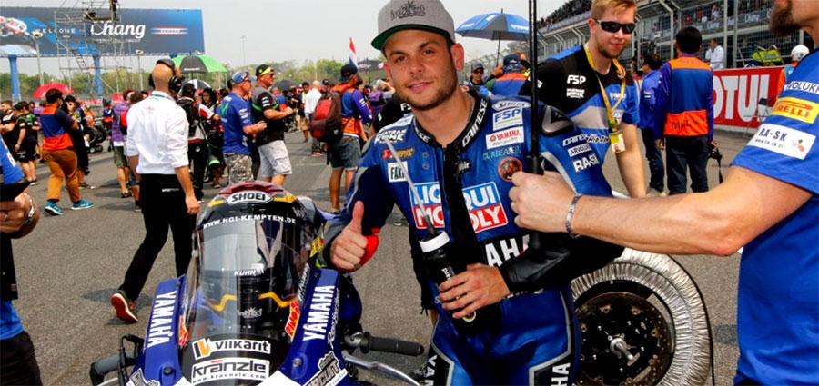 Ai piedi del podio troviamo Sandro Cortese con la Yamaha YZF R6 curata da Kallio Racing