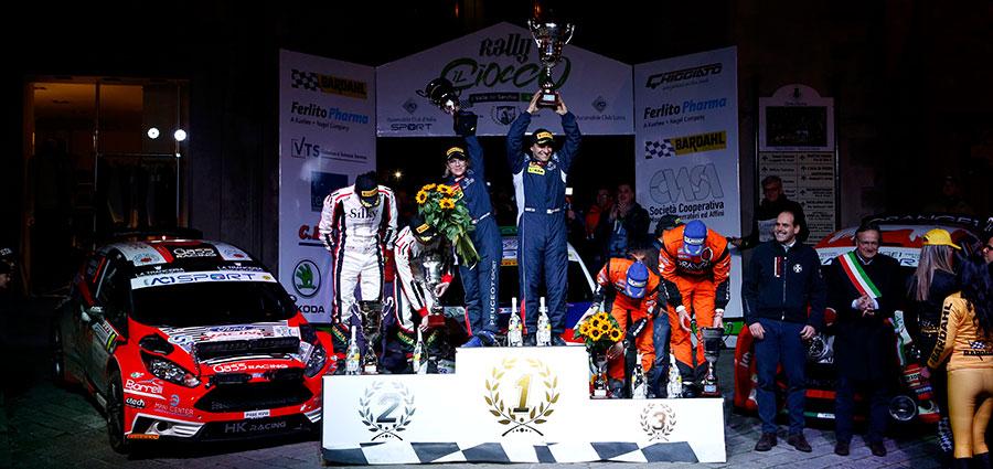 Il podio del Rally il Ciocco e Valli del Serchio