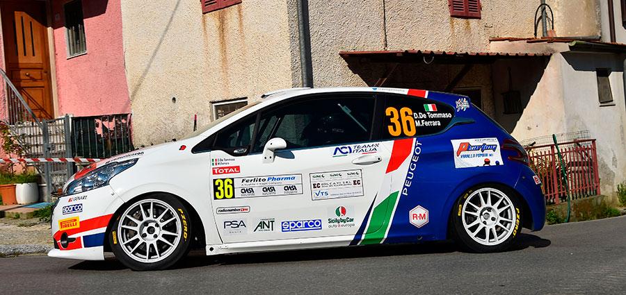 Damiano De Tommaso vince la R2 con la Peugeot 208 R2