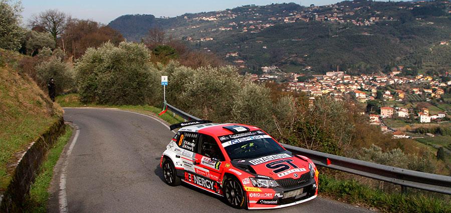 Quinto posto di Rudy Michelini e Michele Perna con la Skoda Fabia R5