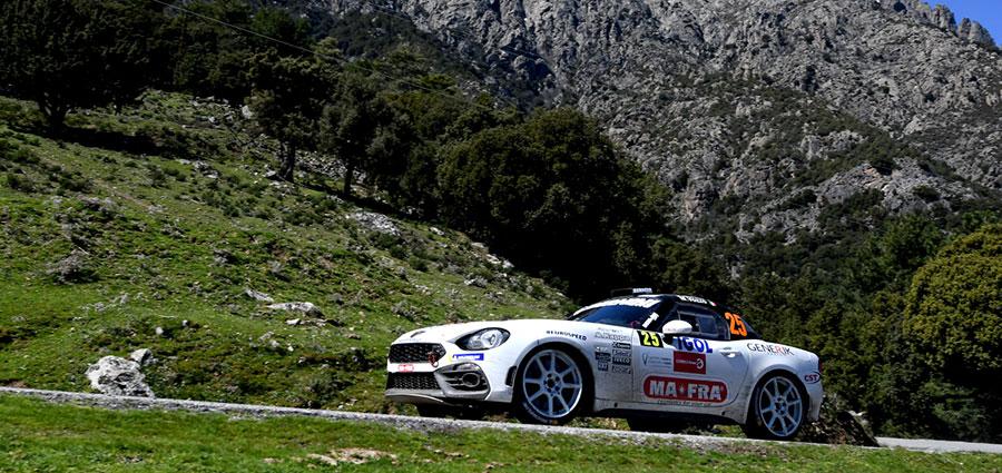 Andrea Nucita e Marco Vozzo con l'Abarth 124 Rally si fanno valere nella RGT Cup (Foto Stefano Romeo)