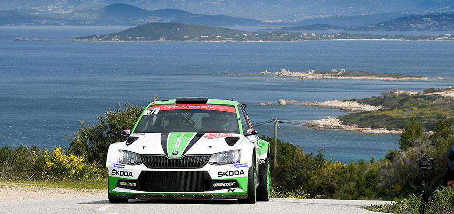 Jan Kopecky e Pavel Dresler con la Skoda Fabia R5 si aggiudicanol la classe WRC 2 (Foto Stefano Romeo)